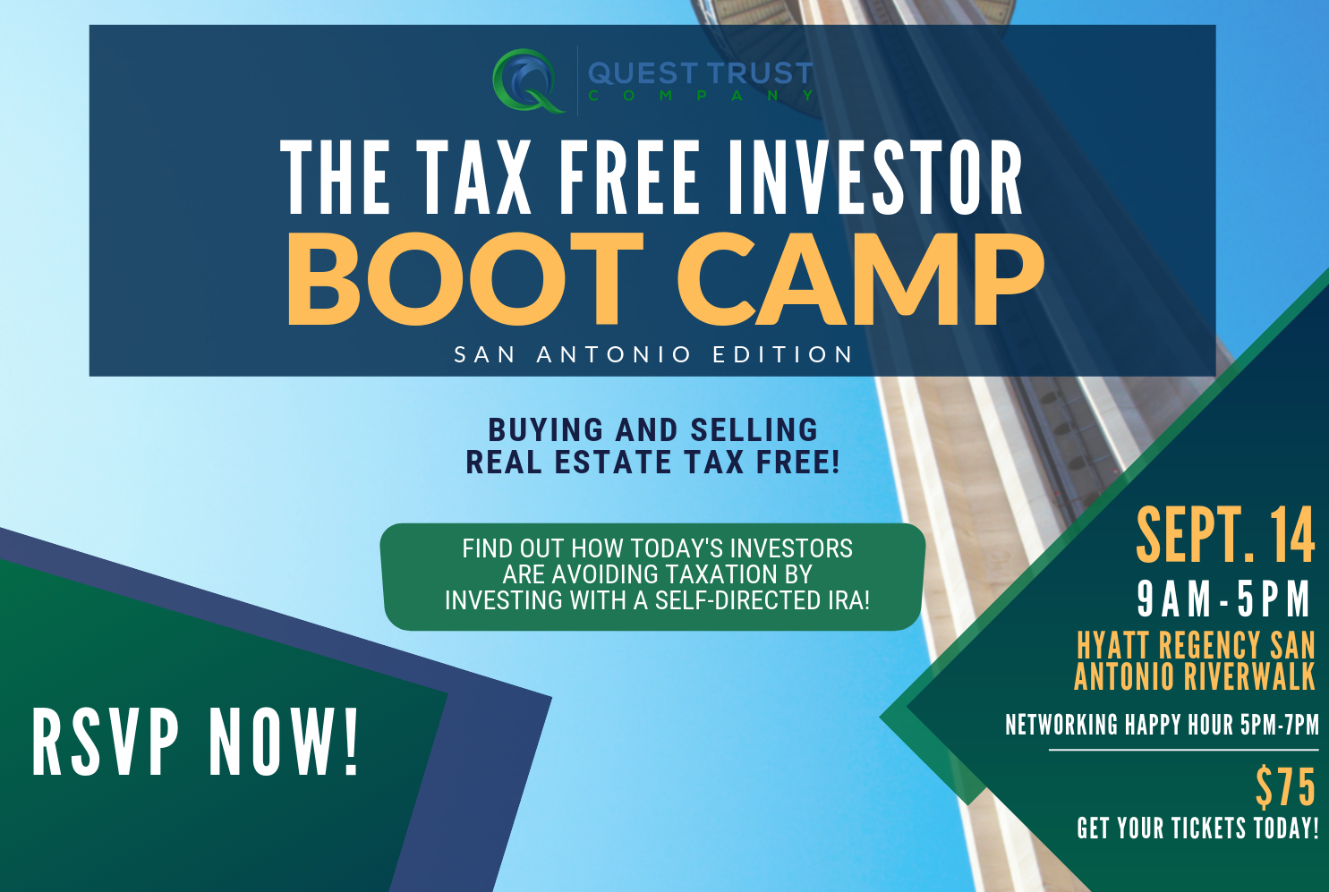 Tax Free Investor Boot Camp | San Antonio, Tx