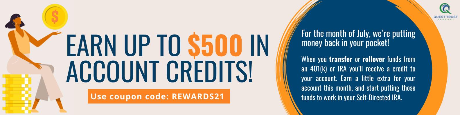 Open an Account - REWARDS21
