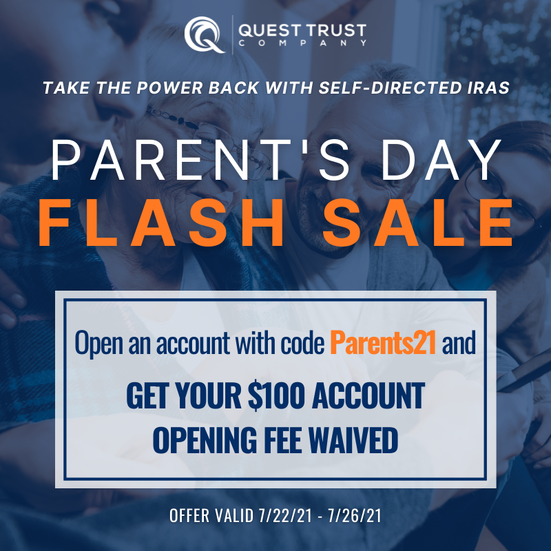 We're Waiving Account Opening Fees for Parent's Day!